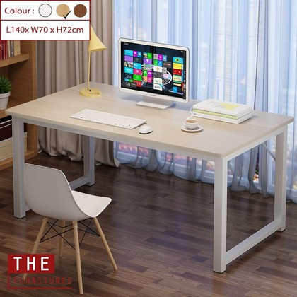 THE Home Office Table Computer Desk Modern Design Simply Style MDF (L100/120 x W60 x H72cm & L140 x W70 x H72cm)