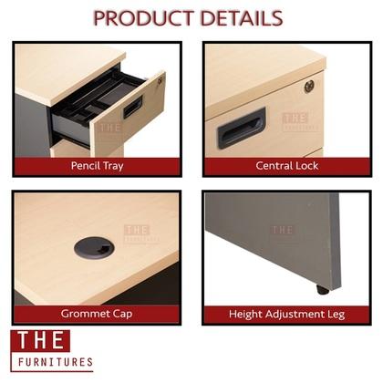 THE Simply Office File Cabinet File Storage Locker Bookshelf Bookcase Utility Shelf With Door Classic Style (L80 x W40 x H164cm) / Kabinet Fail Loker Penyimpanan Fail (L80 x W40 x H164cm)