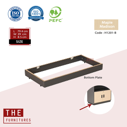 THE Accesories Office Corner Plate Office Table & Bottom Plate File Cabinet